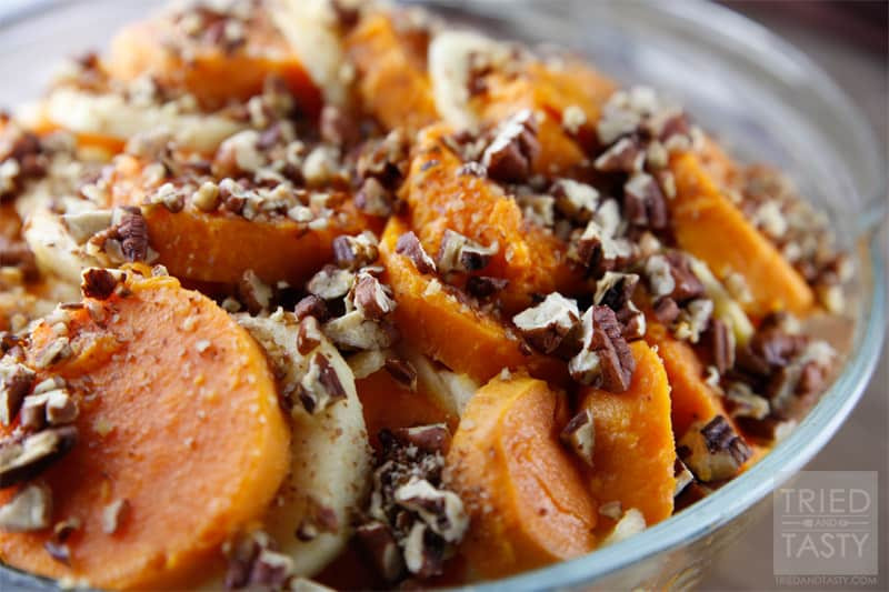 Sweet Potato Apple Casserole  Honey Glazed Apple & Sweet Potato Casserole