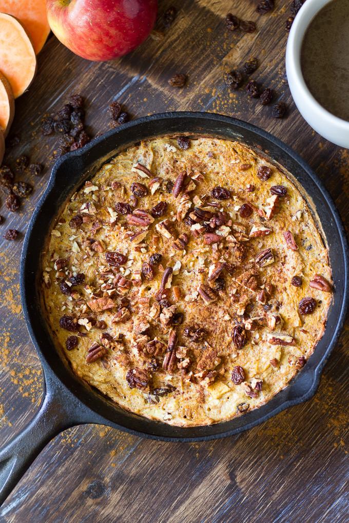 Sweet Potato Apple Casserole  Sweet Potato Apple Breakfast Bake Paleo & Whole30