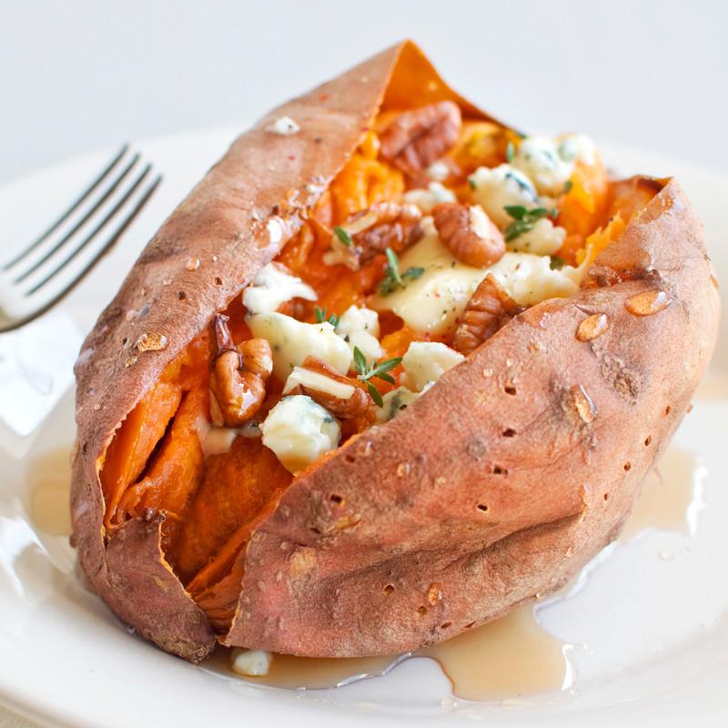 Sweet Potato Bake Time  Loaded Baked Sweet Potatoes Fork Knife Swoon
