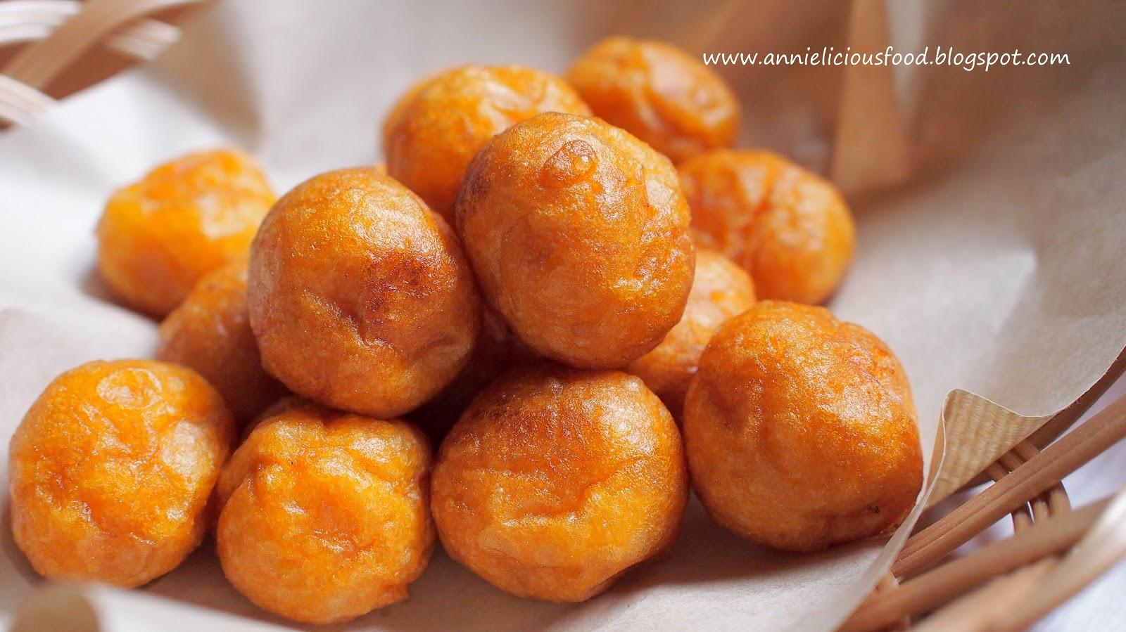 Sweet Potato Balls  Annielicious Food Fried Sweet Potato Balls 炸番薯蛋 MFF