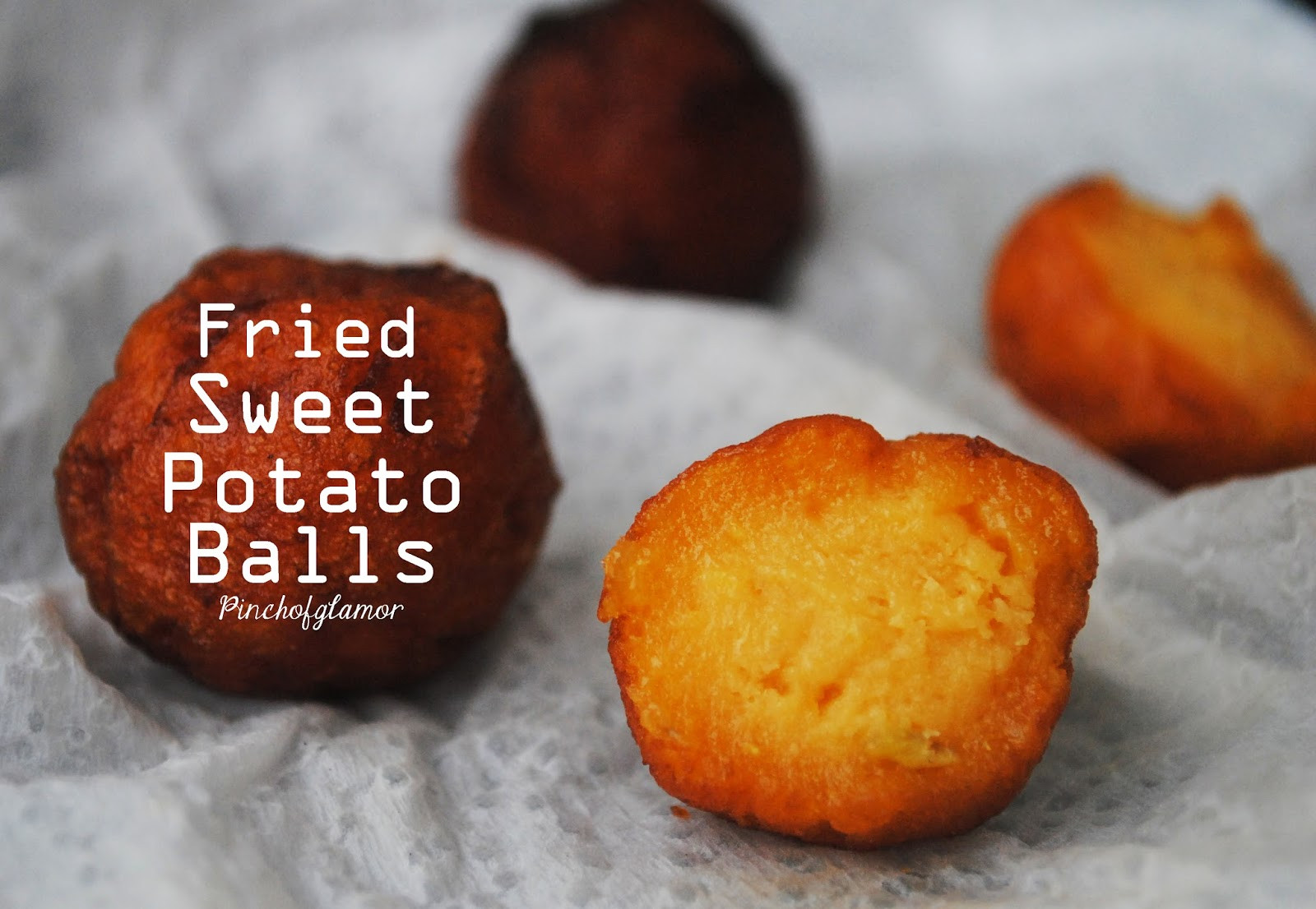 Sweet Potato Balls  Fried Sweet Potato Balls Pinchofglamor