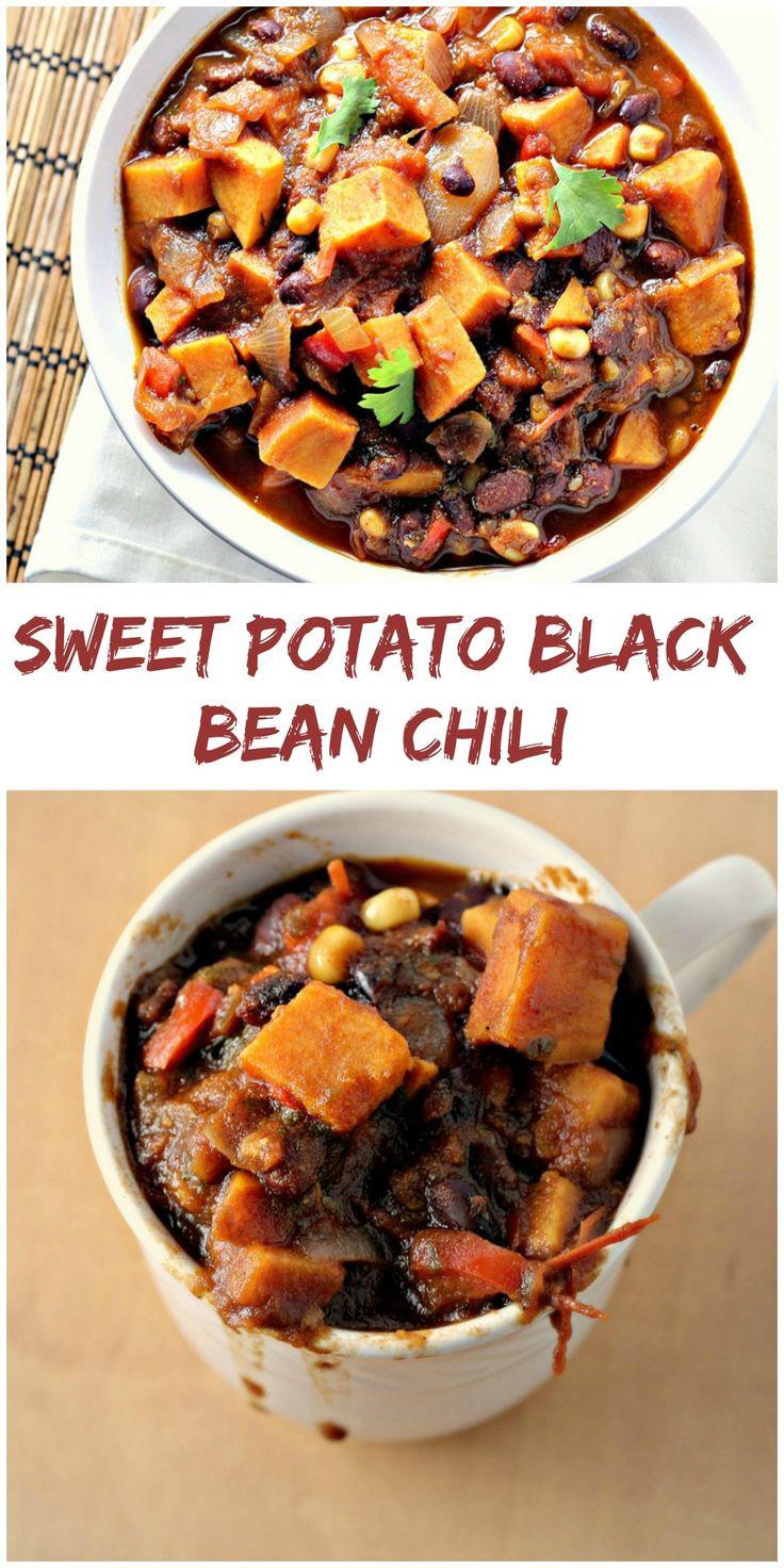 Sweet Potato Black Bean  Sweet Potato Black Bean Chili Eat Live Be
