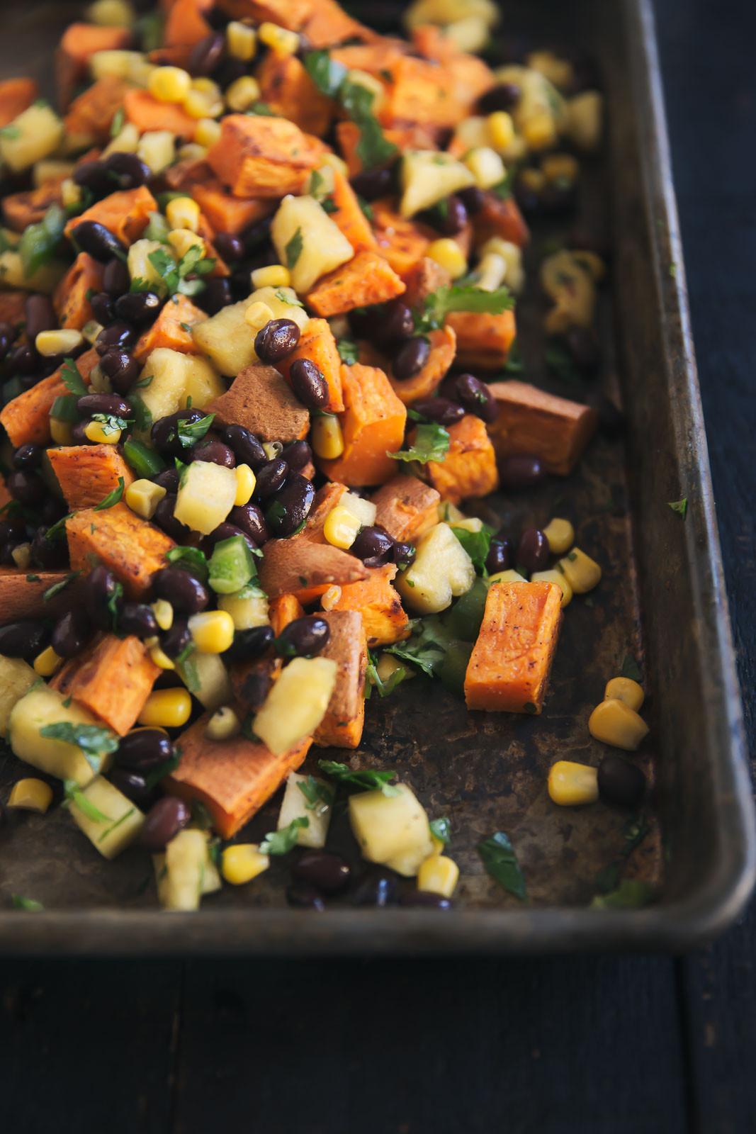 Sweet Potato Black Bean  Roasted Sweet Potato & Black Bean Salad with Fresh