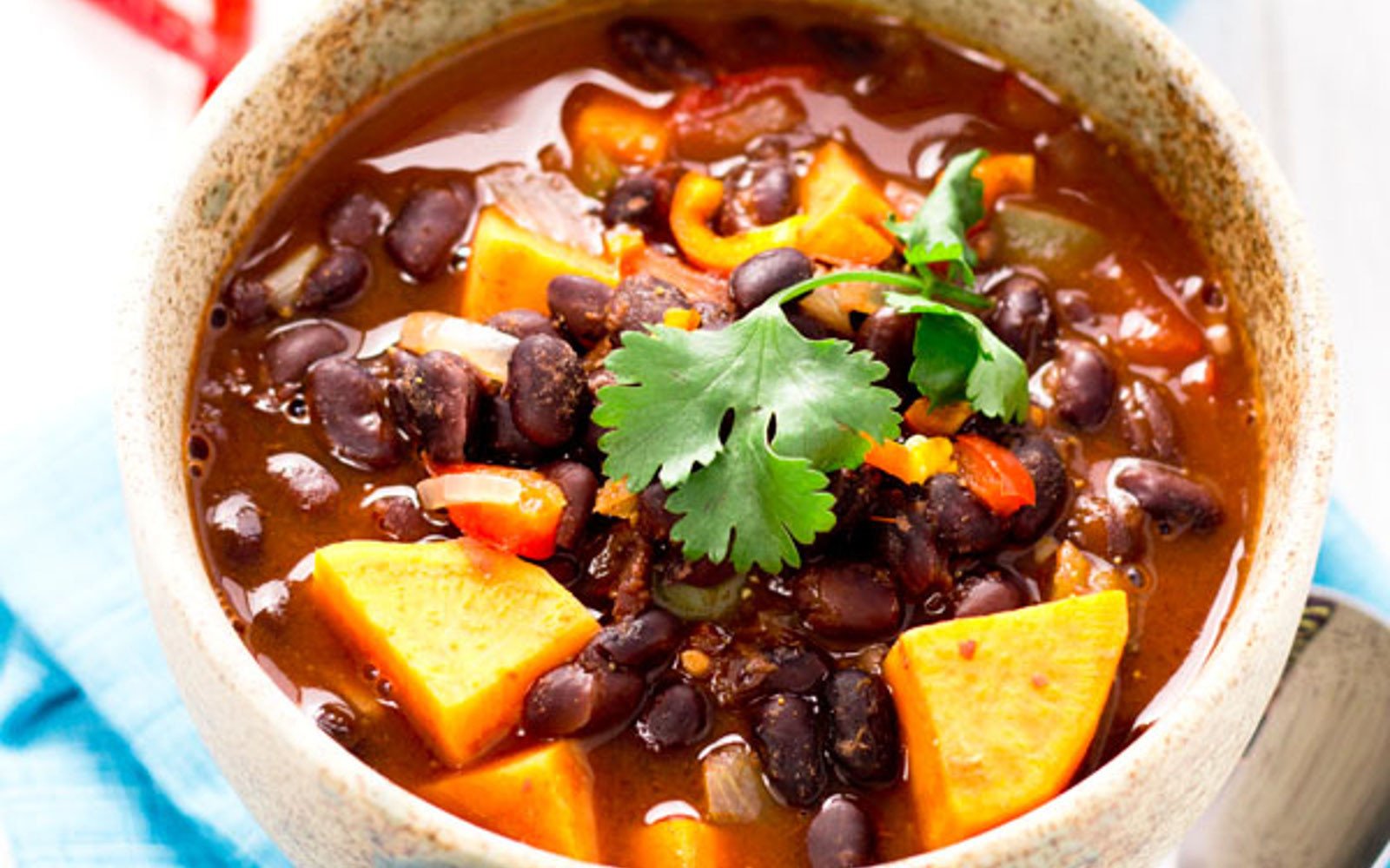 Sweet Potato Black Bean Chili  Sweet Potato Black Bean Chili [Vegan]