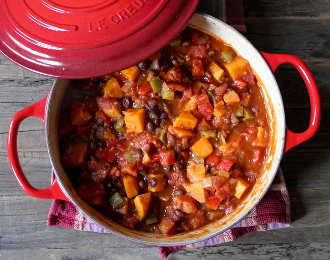 Sweet Potato Black Bean Chili  Sweet Potato and Black Bean Chili Domesticate ME