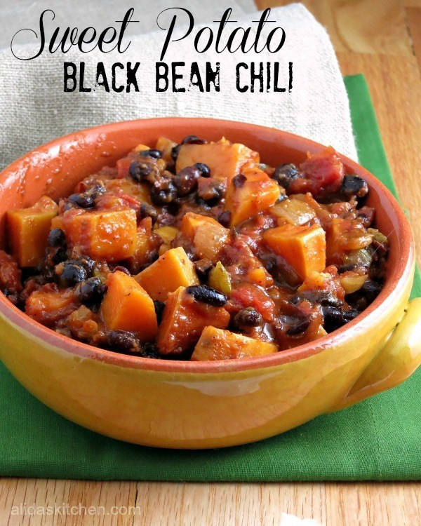 Sweet Potato Black Bean Chili  Sweet Potato Black Bean Chili SundaySupper Alida s Kitchen