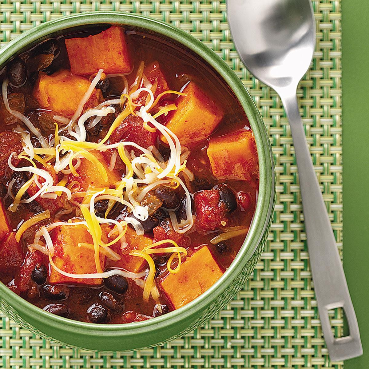 Sweet Potato Black Bean Chili  Sweet Potato & Black Bean Chili Recipe