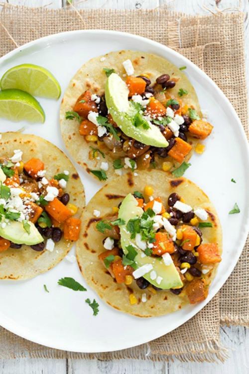 Sweet Potato Black Bean Tacos  10 Veggie Taco Recipes Mountain Mama Cooks