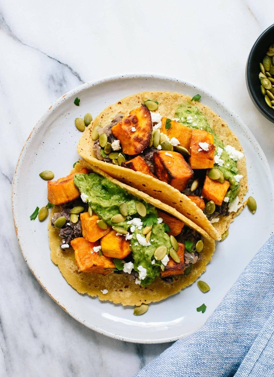 Sweet Potato Black Bean Tacos  Sweet Potato & Black Bean Tacos Recipe Cookie and Kate