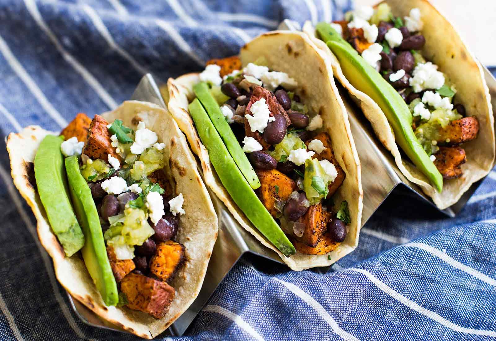 Sweet Potato Black Bean Tacos  Sweet Potato and Black Bean Tacos Recipe