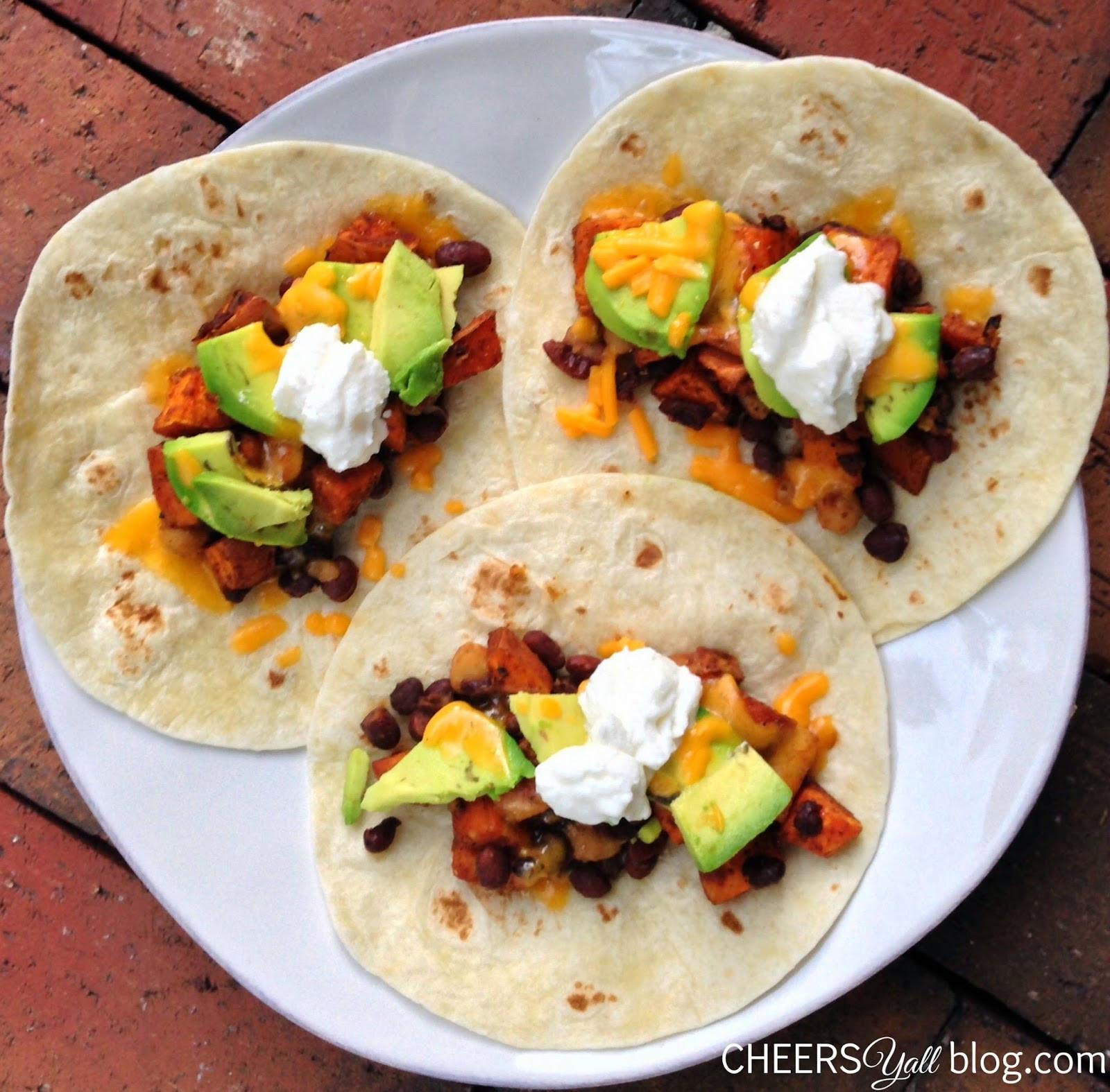 Sweet Potato Black Bean Tacos  Pure Fuel Recipes Honey Lime Sweet Potato Black Bean