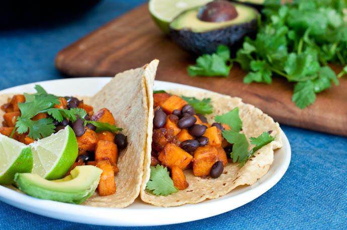 Sweet Potato Black Bean Tacos  Ve arian Sweet Potato & Black Bean Tacos – Cook Smarts