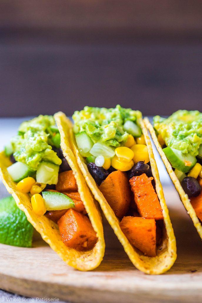 Sweet Potato Black Bean Tacos  Spicy Sweet Potato Black Bean Tacos