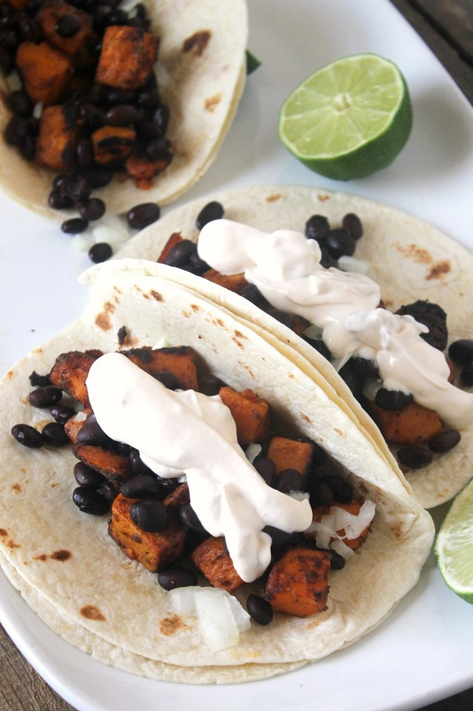 Sweet Potato Black Bean Tacos  Chipotle Sweet Potato Black Bean Tacos