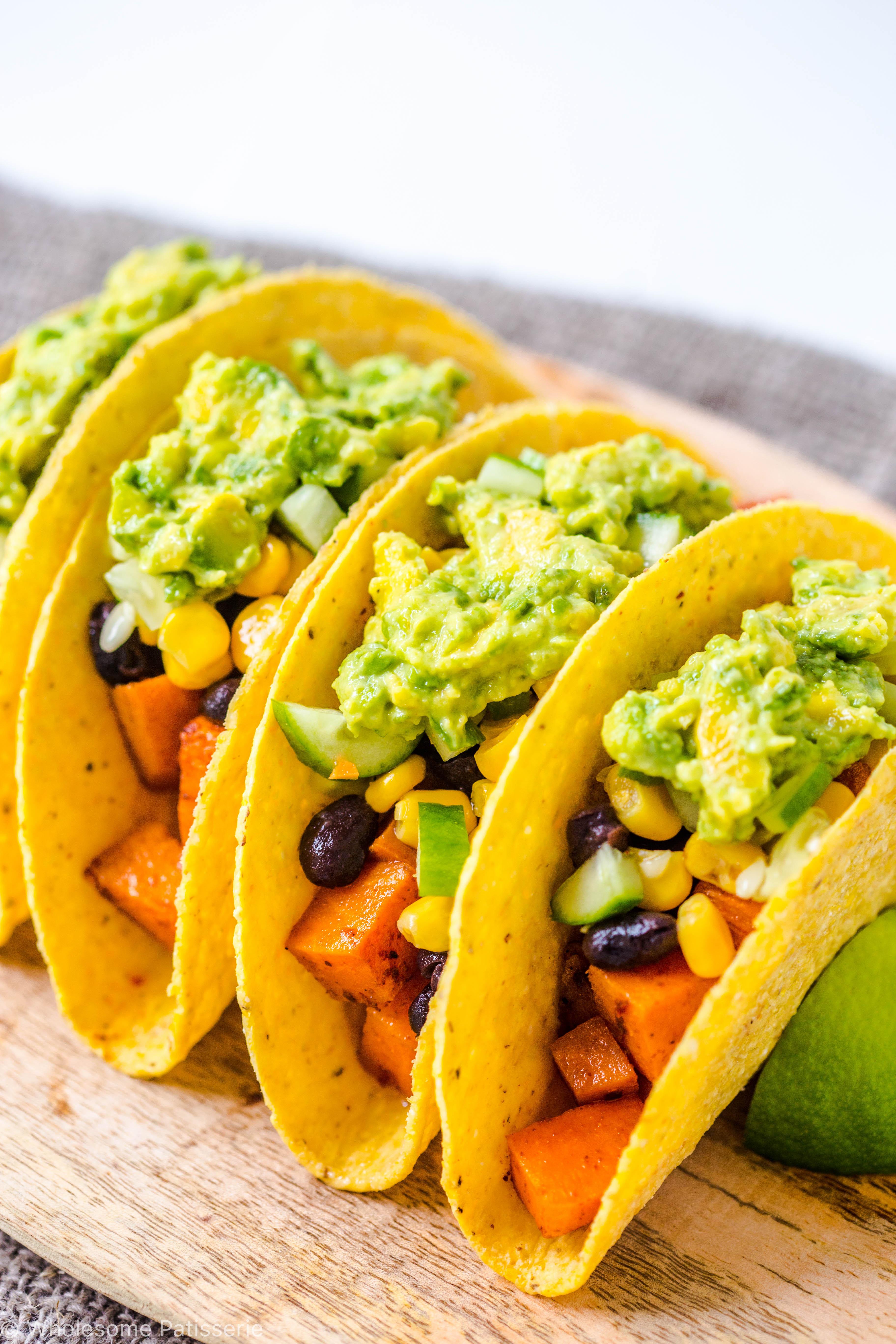 Sweet Potato Black Bean Tacos  Spicy Sweet Potato Black Bean Tacos Wolesome Patisserie