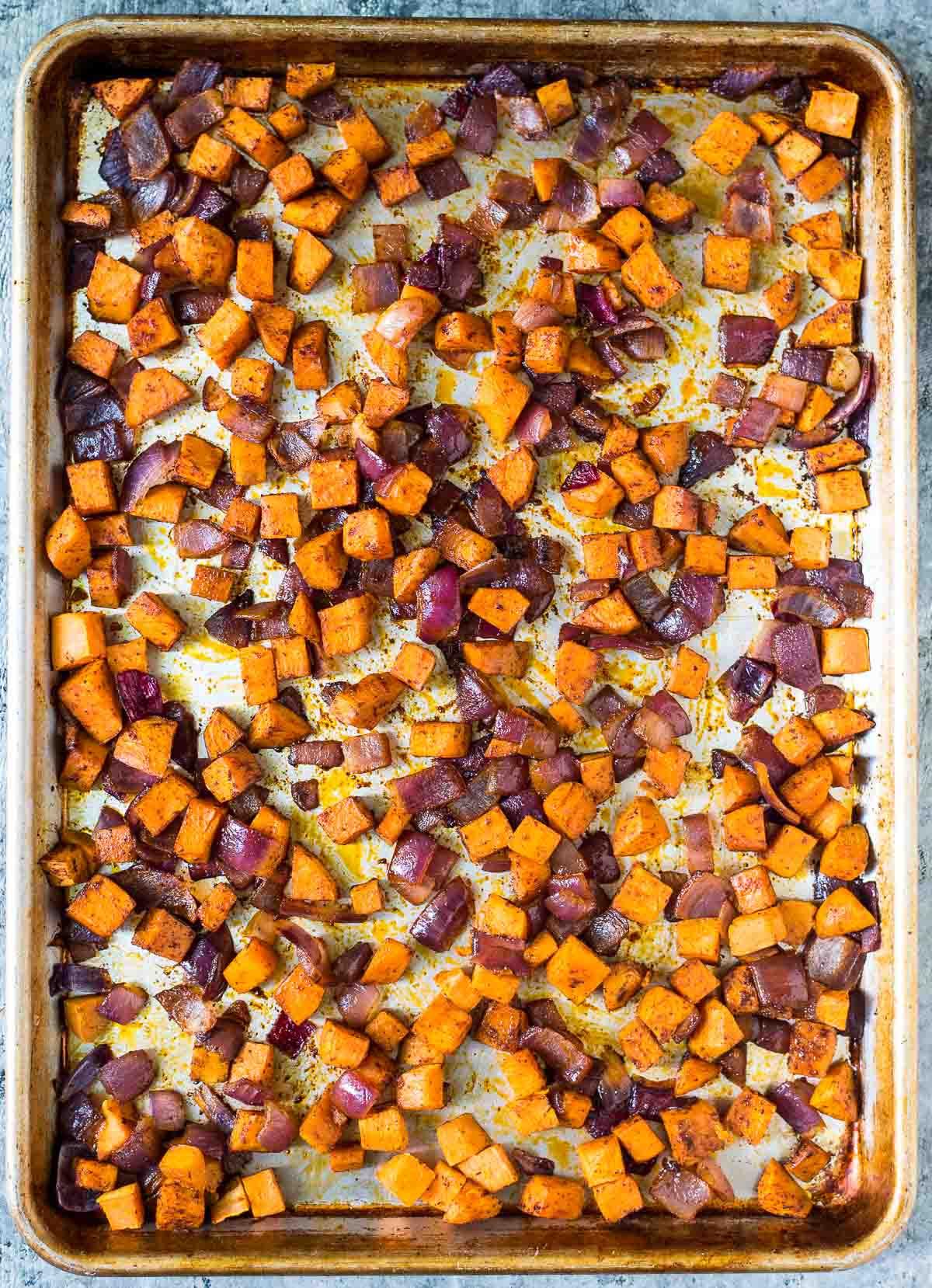 Sweet Potato Black Bean  Roasted Sweet Potato Quinoa Black Bean Salad