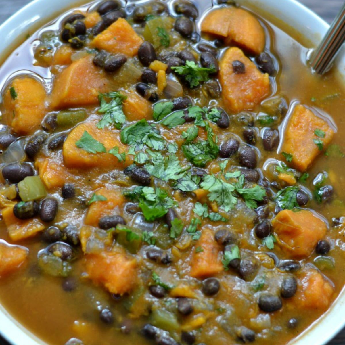Sweet Potato Black Bean  Sweet Potato and Black Bean Soup To Simply Inspire