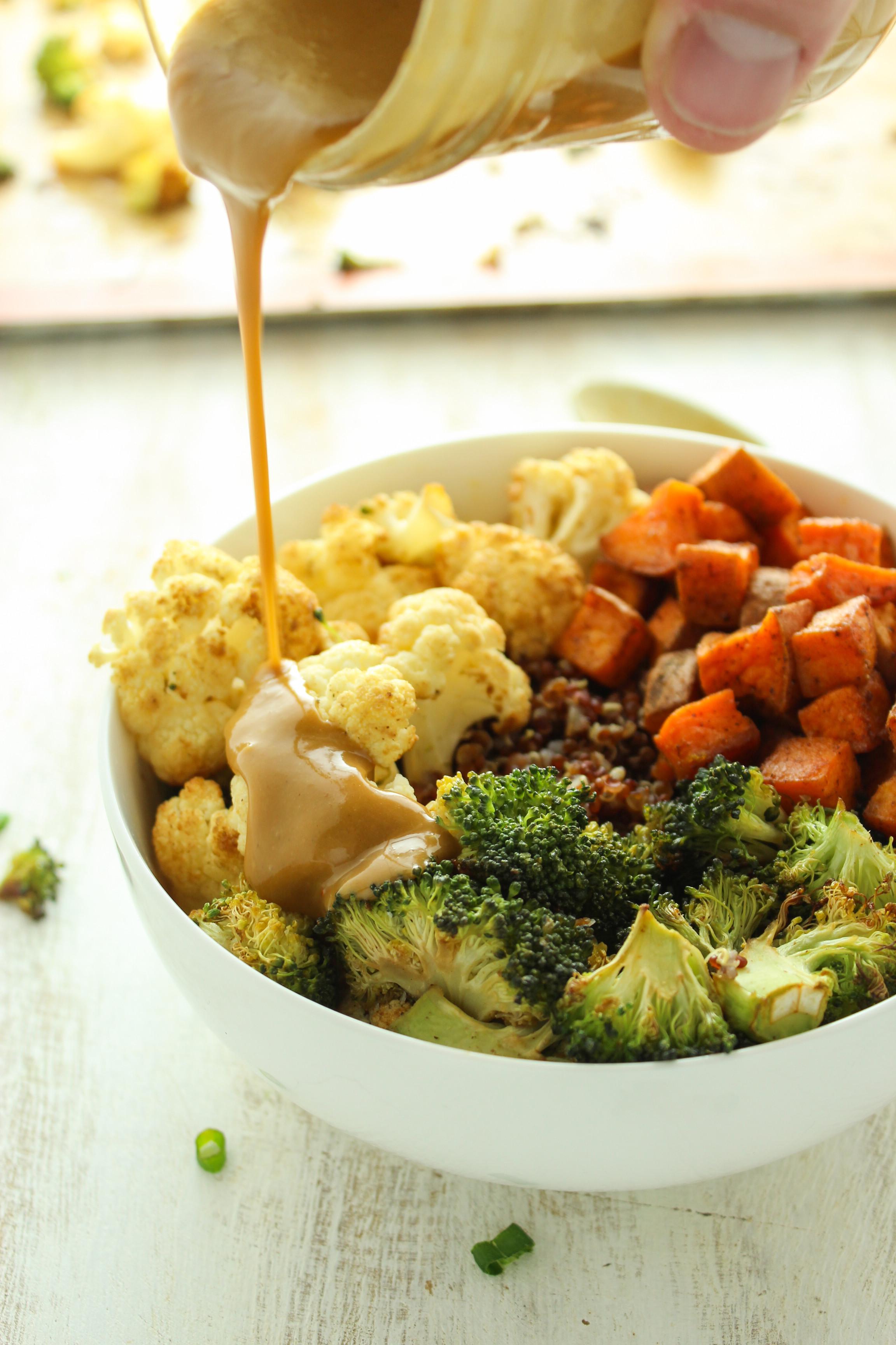 Sweet Potato Bowl  Sweet Potato Cauliflower Quinoa Bowls from The Fitchen