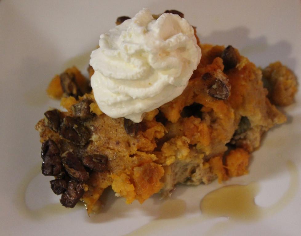 Sweet Potato Bread Pudding  White Cedar Inn Today Sweet Potato Bread Pudding