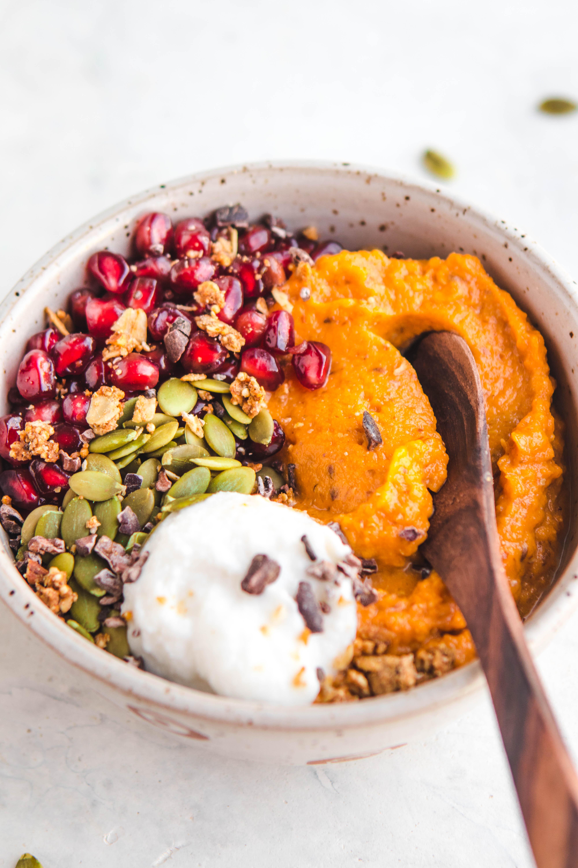 Sweet Potato Breakfast  Fluffy Sweet Potato Breakfast Bowls Vegan & Grain Free
