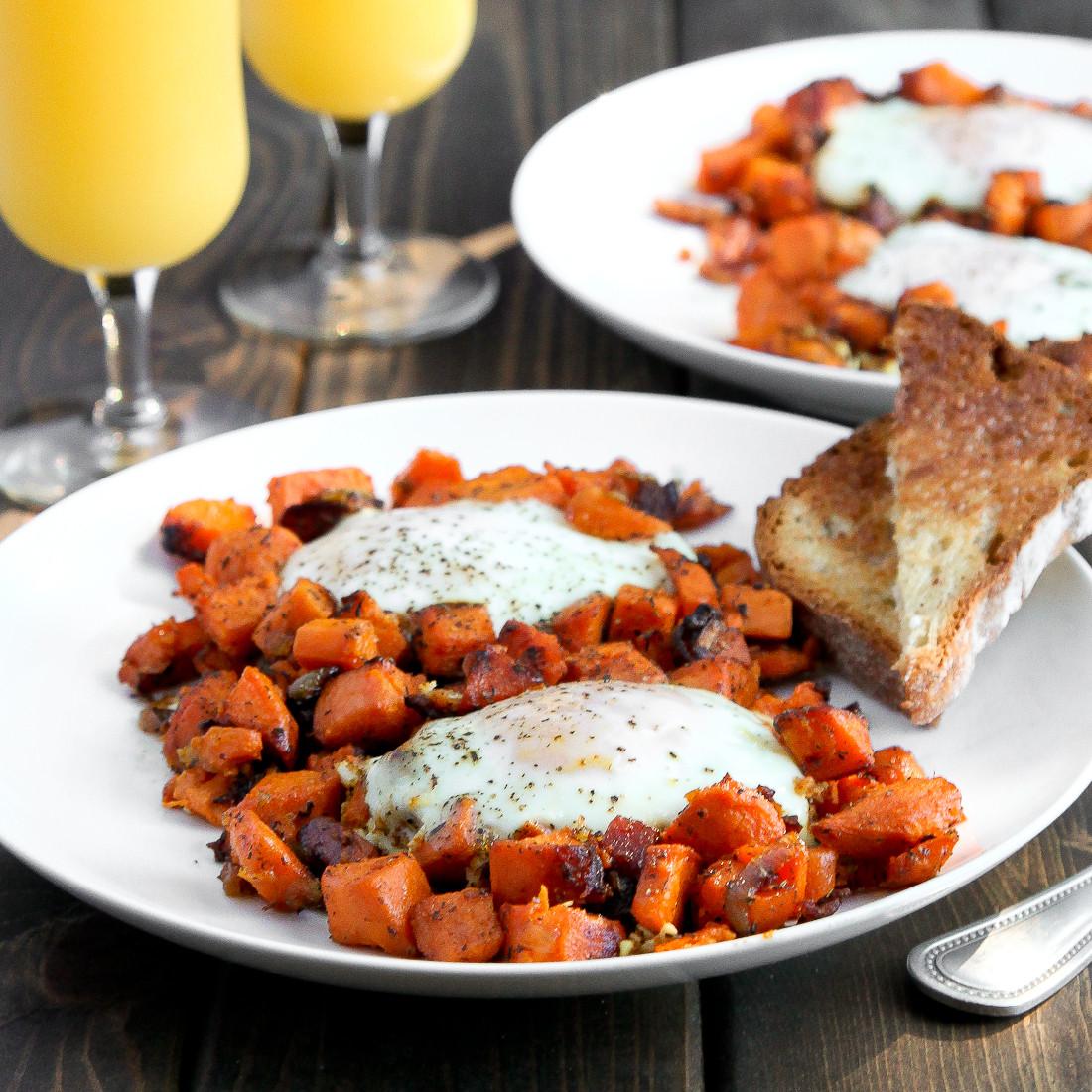 Sweet Potato Breakfast  Sweet Potato and Eggs Breakfast Hash Snixy Kitchen