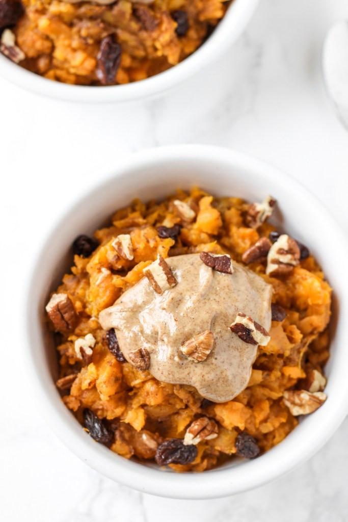 Sweet Potato Breakfast  sweet potato casserole with white raisin