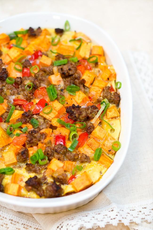 Sweet Potato Breakfast  Sweet Potato Sausage and Egg Breakfast Casserole Paleo