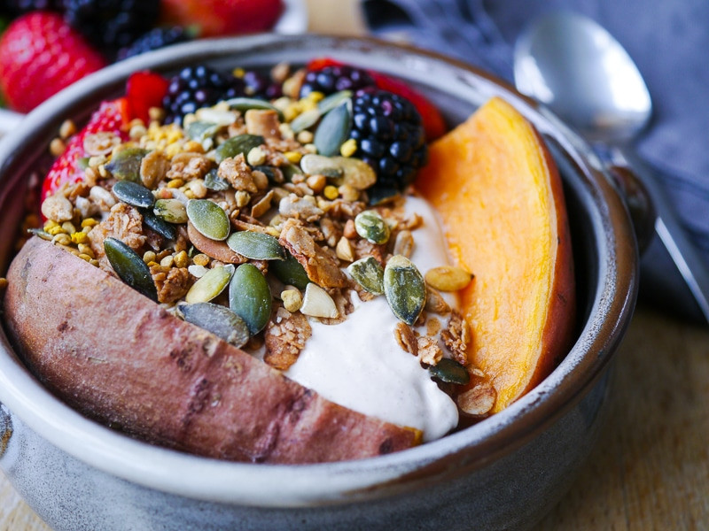 Sweet Potato Breakfast  Sweet Potato Breakfast Bowl with Berries