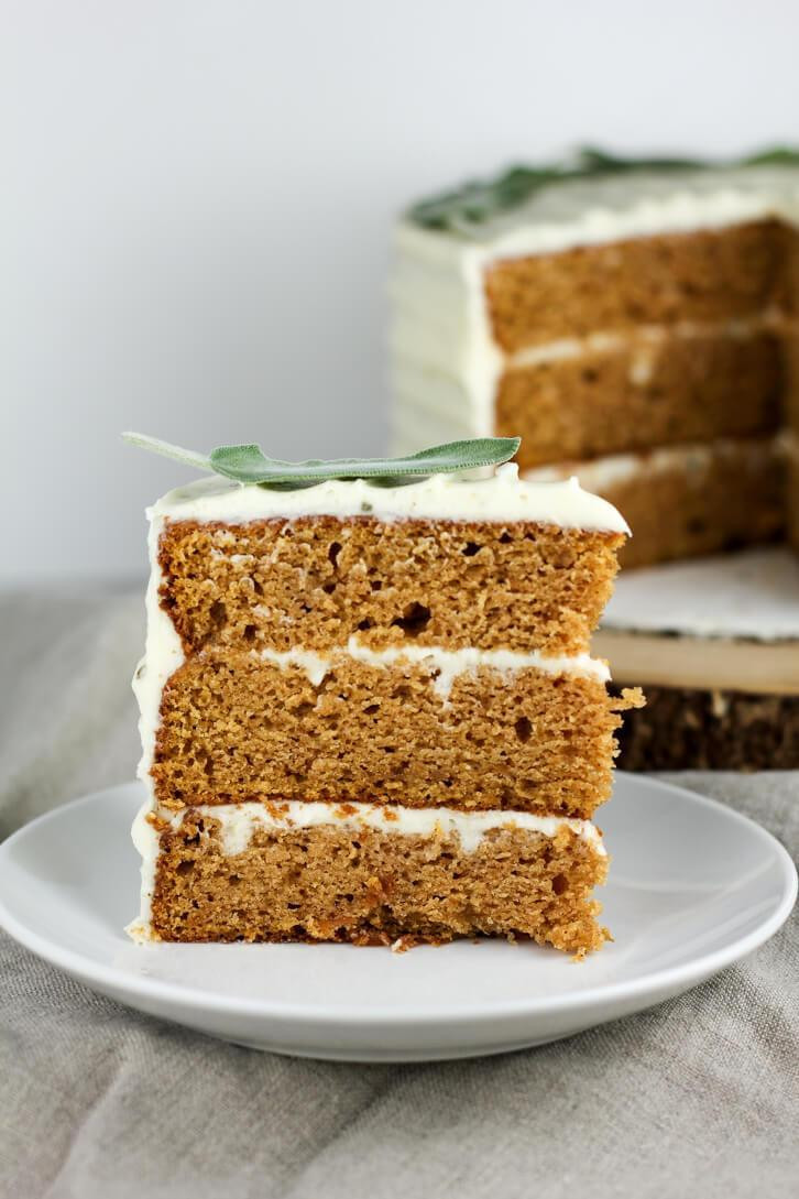 Sweet Potato Cake  Sweet Potato Cake with Brown Butter Sage Frosting