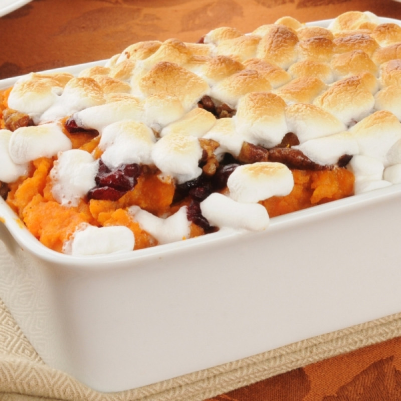 Sweet Potato Casserole With Marshmallows And Pecans  Sweet Potato Casserole With Marshmallows Recipe