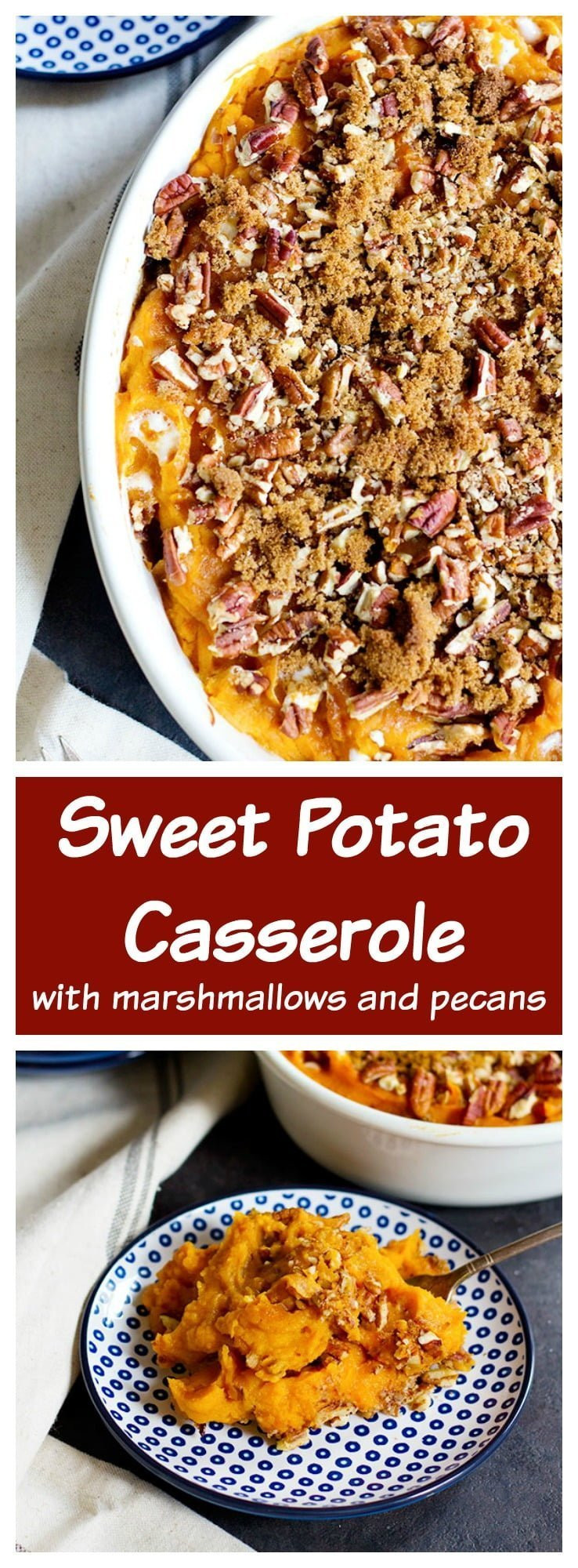 Sweet Potato Casserole With Marshmallows And Pecans  Sweet Potato Casserole with Pecans • Unicorns in the Kitchen