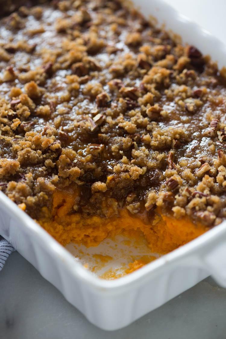 Sweet Potato Casserole With Pecans  Sweet Potato Casserole Tastes Better From Scratch