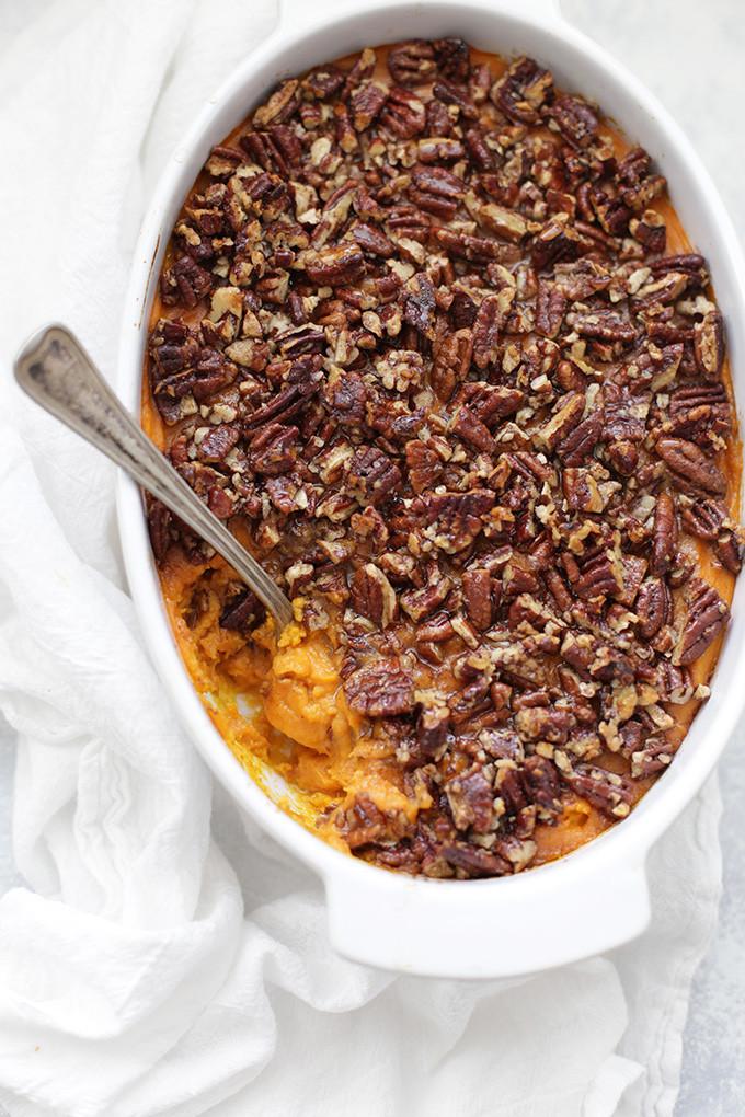Sweet Potato Casserole With Pecans  Paleo or Vegan Sweet Potato Casserole e Lovely Life