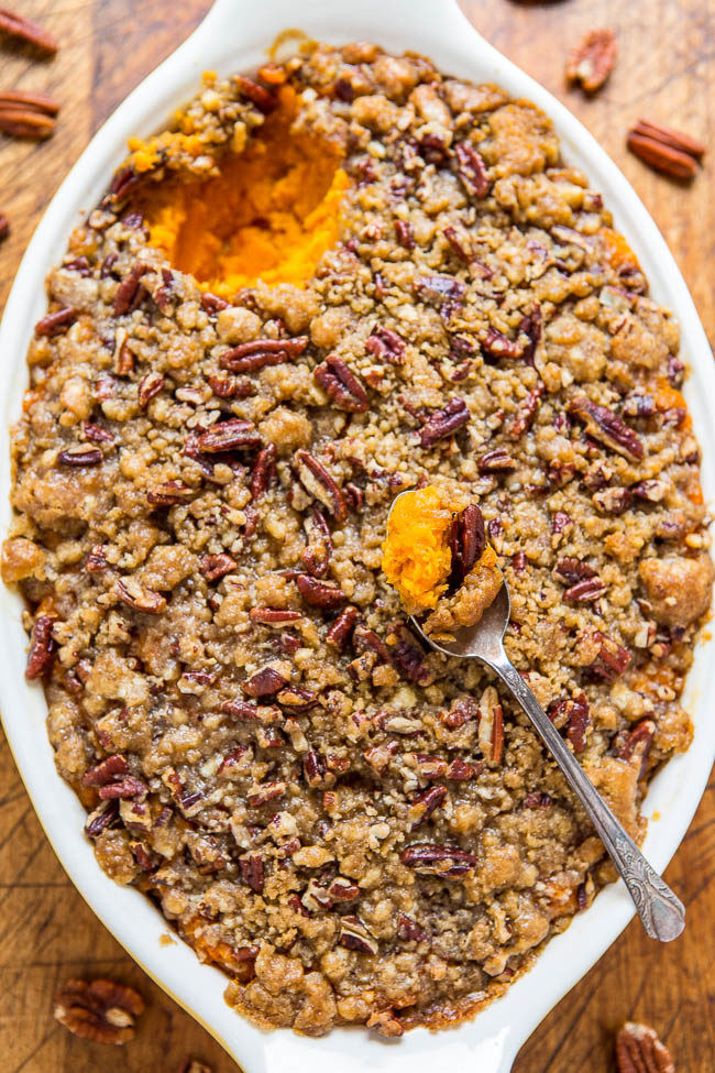 Sweet Potato Casserole With Pecans  Sweet Potato Casserole with Butter Pecan Crumble Topping