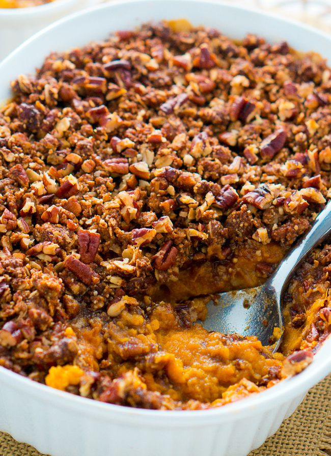 Sweet Potato Casserole With Pecans  Healthy Sweet Potato Casserole with Pecan Topping