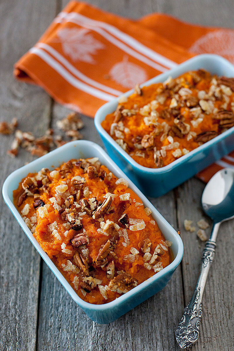 Sweet Potato Casserole With Pecans  Healthy Coconut Ginger Sweet Potato Casserole Recipe