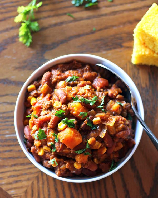 Sweet Potato Chili  sweet potato chili slow cooker