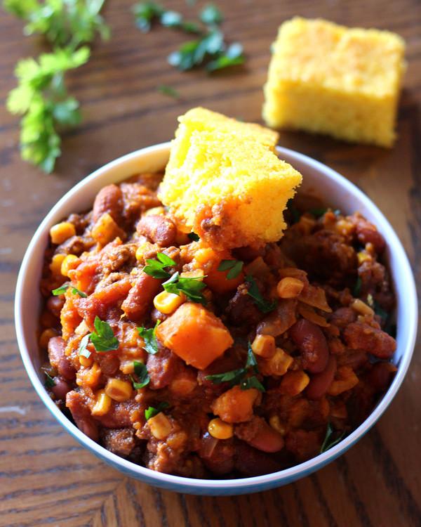 Sweet Potato Chili Slow Cooker  Slow Cooker Sweet Potato Chili a Nomad s Dream