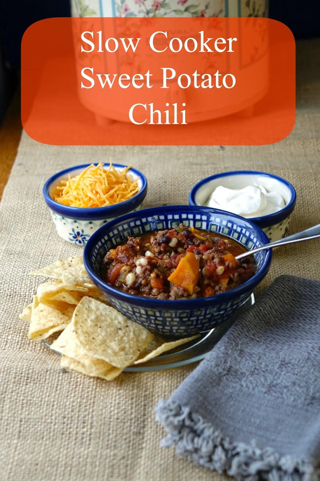 Sweet Potato Chili Slow Cooker  Farm Fresh Feasts Slow Cooker Sweet Potato Chili with