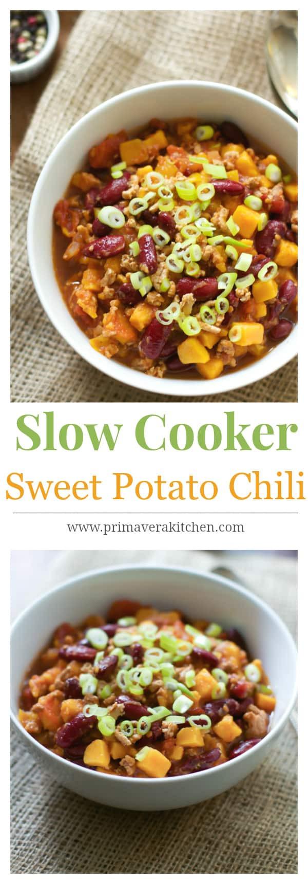 Sweet Potato Chili Slow Cooker  Slow Cooker Sweet Potato Chili Primavera Kitchen