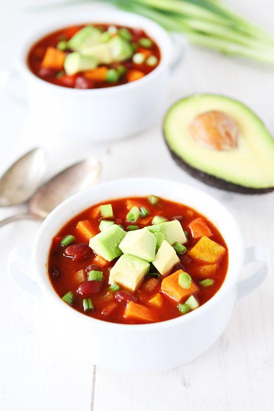 Sweet Potato Chili Slow Cooker  Slow Cooker Vegan Chili Recipe