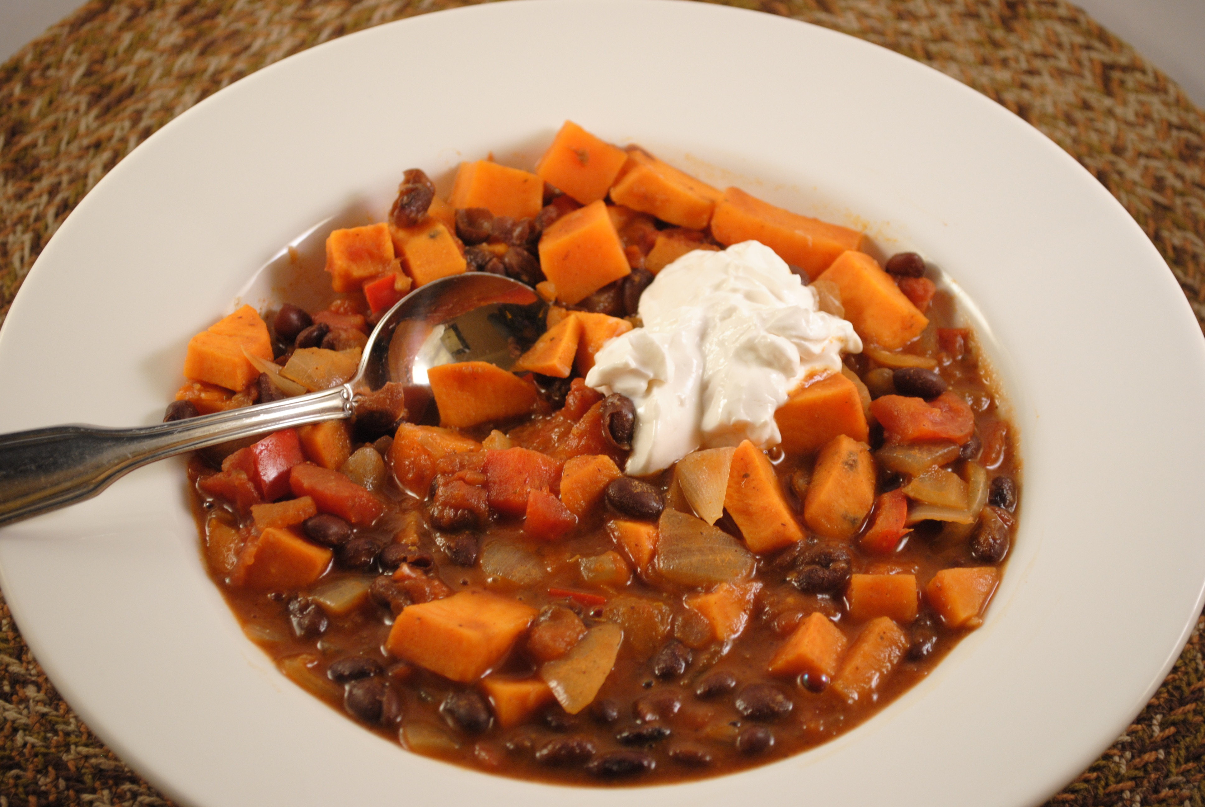 Sweet Potato Chili  Black Bean and Sweet Potato Chili