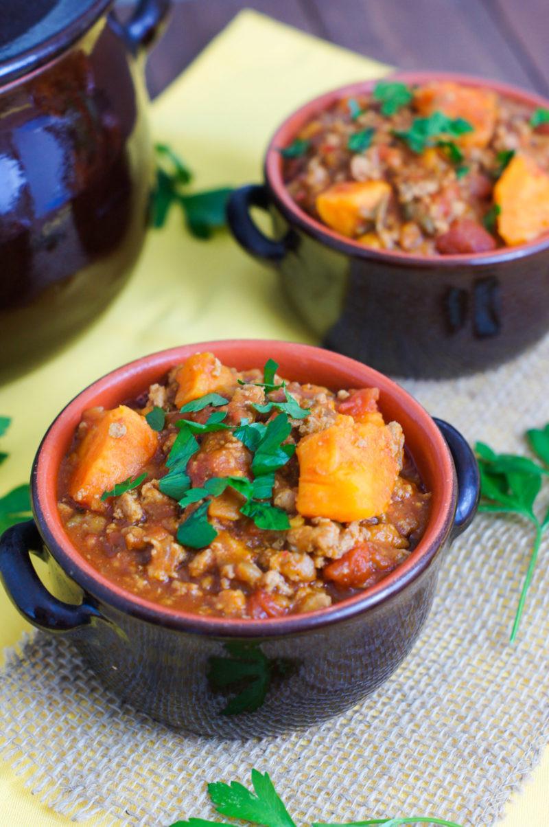 Sweet Potato Chili  Slow Cooker Turkey and Sweet Potato Chili