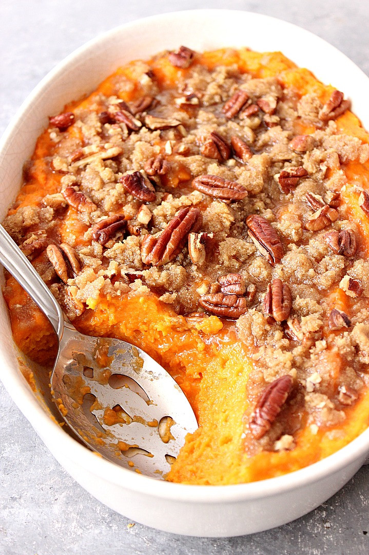 Sweet Potato Dishes  The Best Easy Sweet Potato Casserole Recipe Crunchy