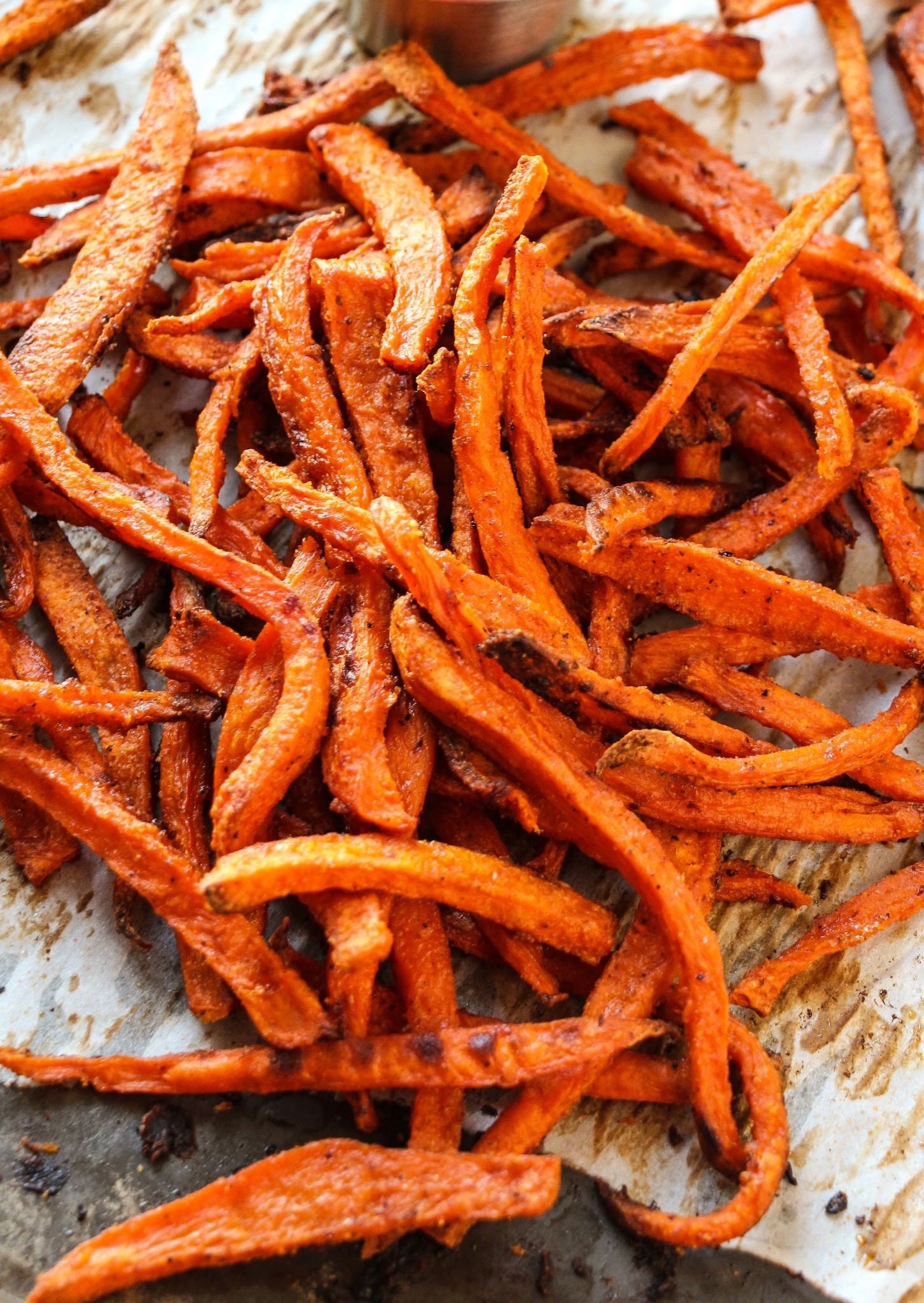 Sweet Potato French Fries  Extra Crispy Baked Sweet Potato Fries Layers of Happiness
