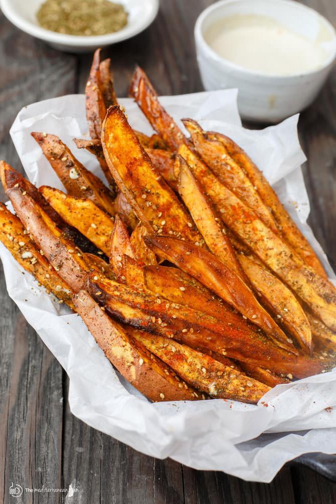 Sweet Potato French Fries  Baked Sweet Potato Fries with Za atar