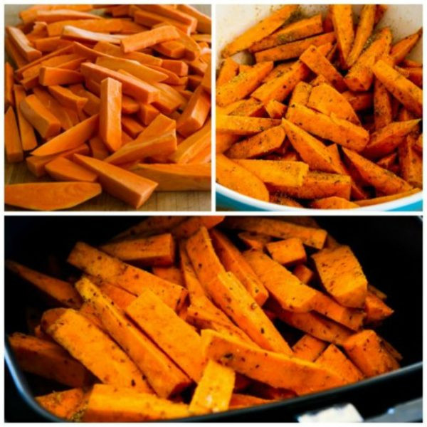 Sweet Potato Fries Air Fryer  Air Fryer Spicy Sweet Potato Fries Kalyn s Kitchen