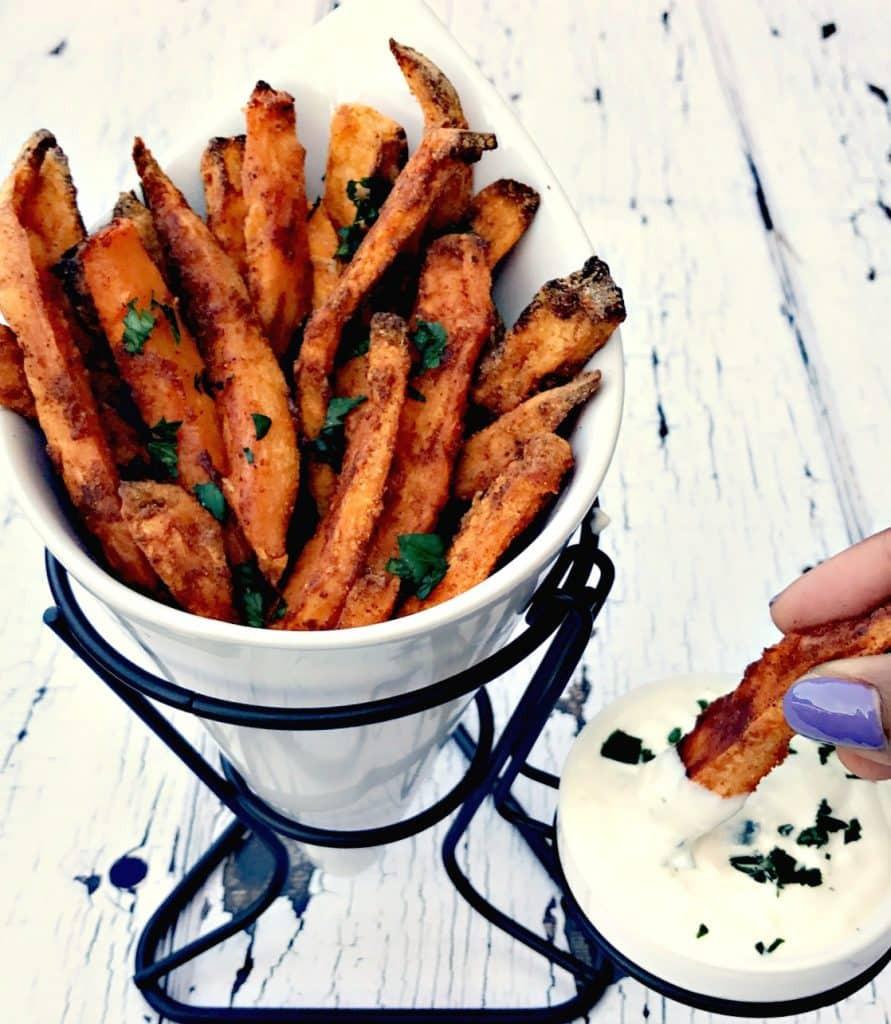 Sweet Potato Fries Air Fryer  Air Fryer Crispy Crunchy Sweet Potato Fries
