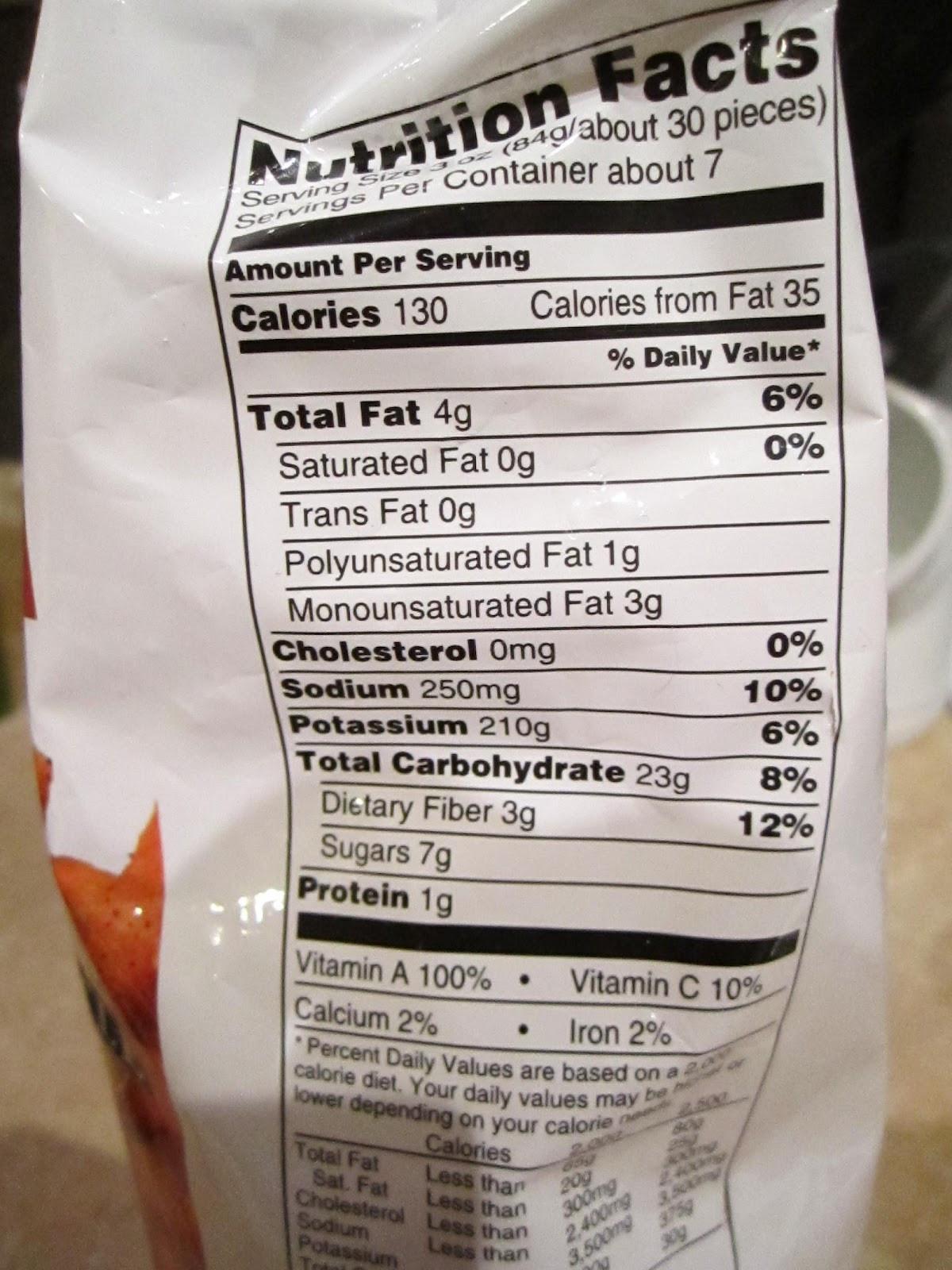Sweet Potato Fries Calories  alexia sweet potato fries nutrition label