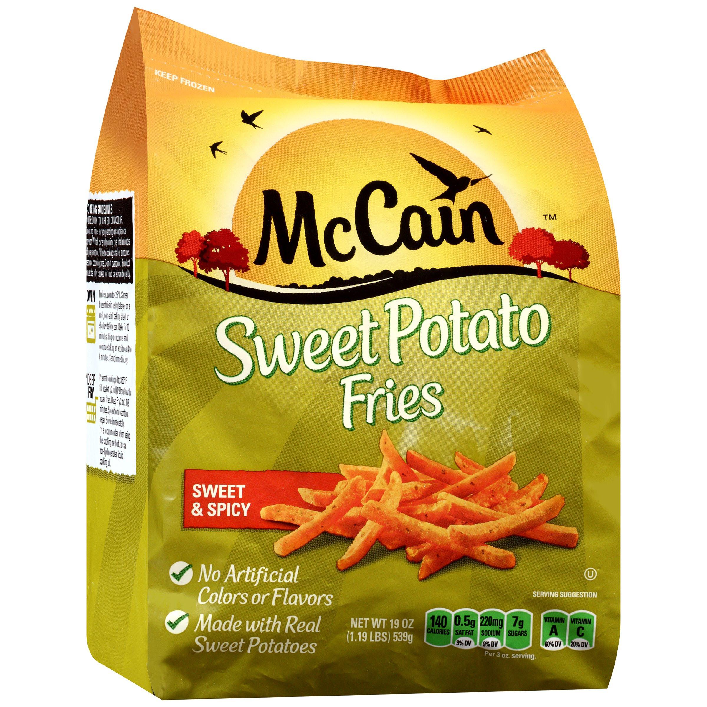Sweet Potato Fries Calories  Mccain Sweet Potato Fries Nutritional Information